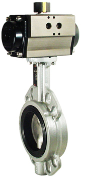 Air Actuated Butterfly Valve 2-1/2 Wafer,EPDM,Double Acting
