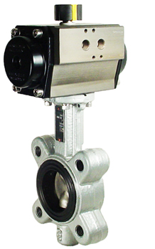 Air Actuated Butterfly Valve 2 Lug,EPDM,Spring Return