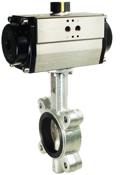 "Air Actuated Butterfly Valve 2-1/2"" Lug,NBR,Spring Return"