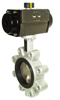 "Air Actuated Butterfly Valve 4"" Lug,NBR,Spring Return"