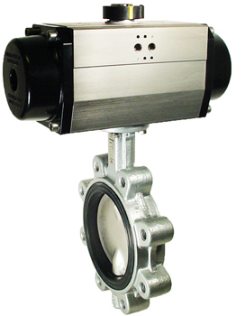 "Air Actuated Butterfly Valve 6"" Lug,NBR,Spring Return"