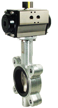 Air Actuated Butterfly Valve 3 Lug,EPDM,Double Acting