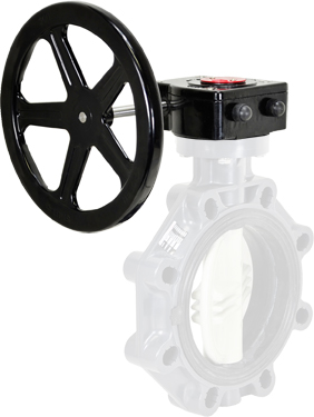"""Gear Operator Handwheel 6"""" PVC Butterfly"""