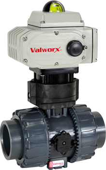 "2"" Electric Actuated PVC Ball Valve 110 VAC"