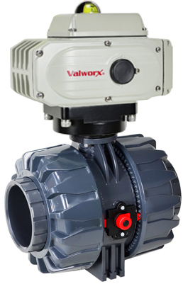 """Electric Actuated PVC Ball Valve 4"""",  110 VAC, EPS Positioner"""