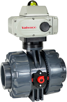"Electric Actuated PVC Ball Valve 2-1/2"", 24 VDC, EPS Positioner"