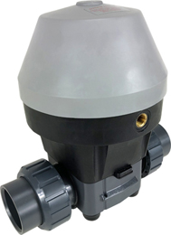 "Air Actuated PVC Diaphragm Valve 1 1/2"" - Spring Return/EPDM Diaphragm"