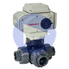 Electric Actuated PVC 3-Way Ball Valves