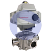 Electrically Actuated 3-Way T-Port Sanitary Ball Valves