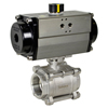 Air Actuated 3-Piece Stainless Ball Valves- Rack & Pinion