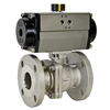 Air Actuated Stainless Flanged Ball Valves- Rack & Pinion