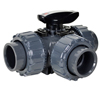 Full Port PVC 3-Way Ball Valves T-Port
