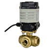 Electric Actuated Brass 3-Way Ball Valves - Compact