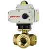 Electric Actuated Brass 3-way Ball Valves - On/Off