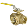 Full Port Brass 3-Way Ball Valves