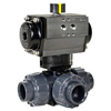 Air Actuated PVC 3-Way Ball Valves- Rack & Pinion