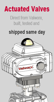 Valworx Actuated Valves - Same Day Shipping