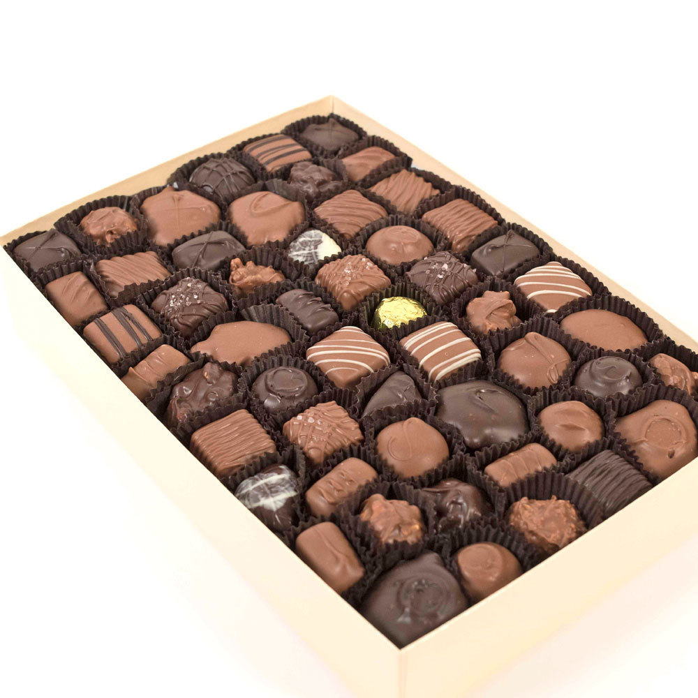 Assorted Milk & Dark Chocolates - 3 lb. Box