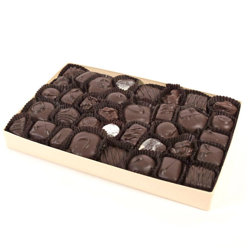 Assorted Dark Chocolates - 1 lb. Box
