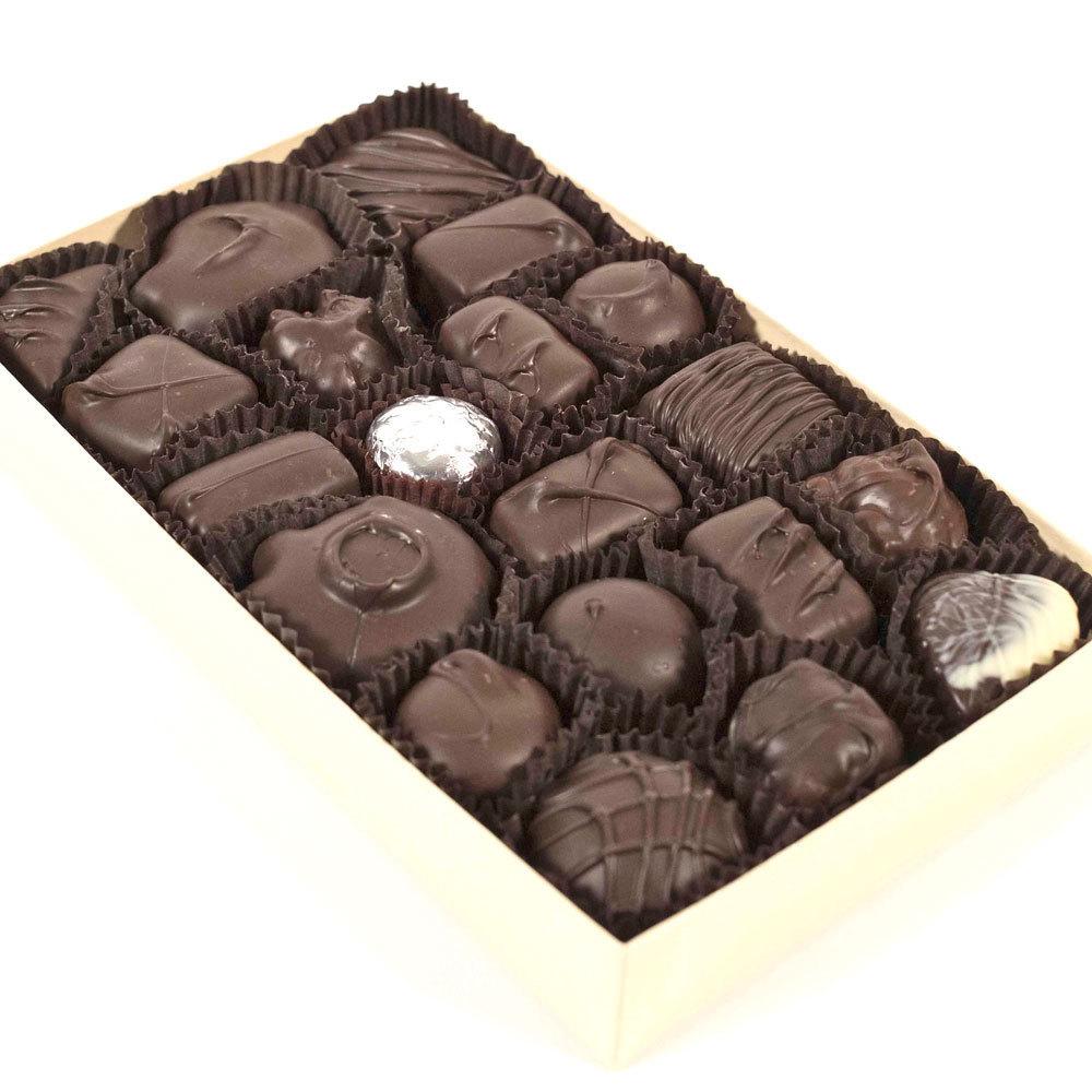 Assorted Dark Chocolates - 8 oz. Box