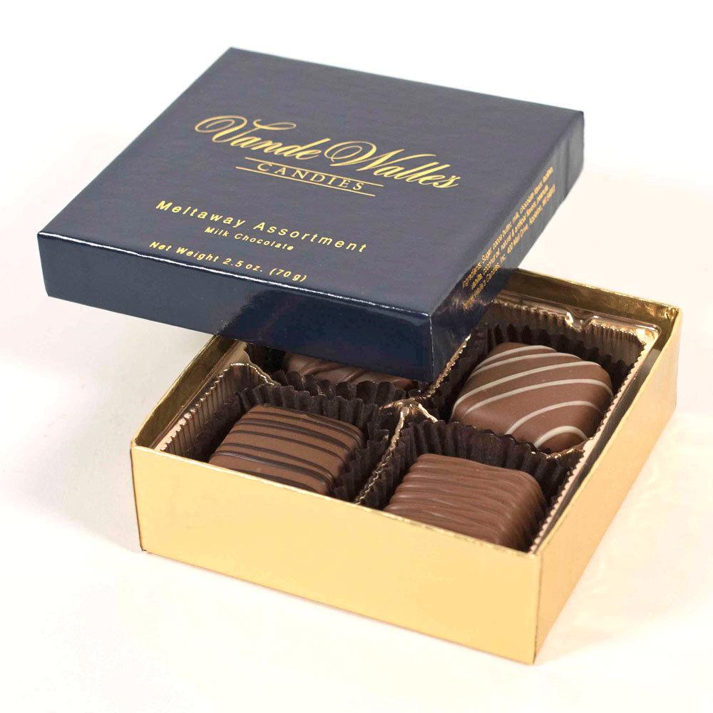 Assorted Meltaways, Milk Chocolate - 2.5 oz. Box (4 pc)