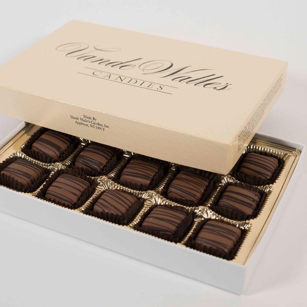 Caramel Meltaways, Milk Chocolate - 9 oz. Box (15 pc)