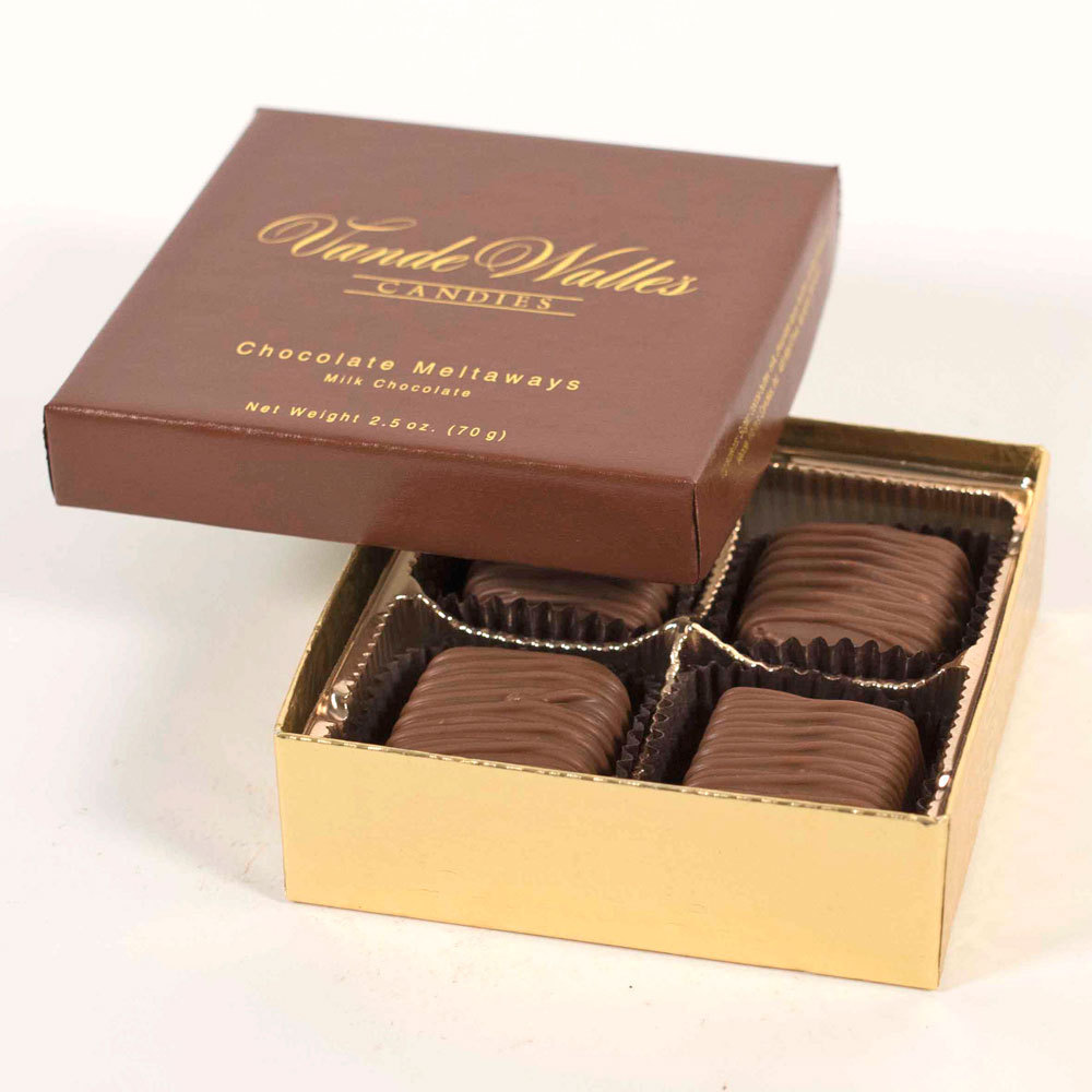 Chocolate Meltaways, Milk Chocolate - 2.5 oz. Box (4 pc)