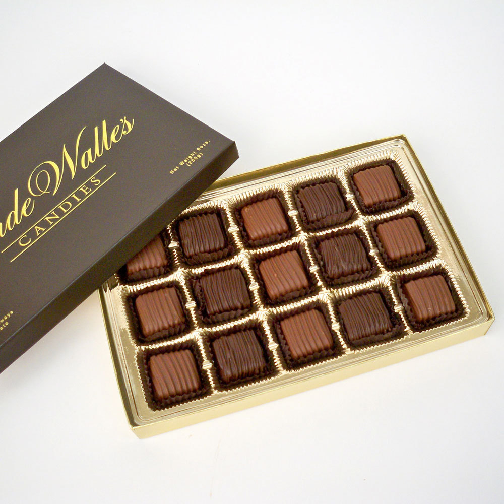 Chocolate Meltaways, Milk & Dark Chocolate - 9 oz. Box (15 pc)