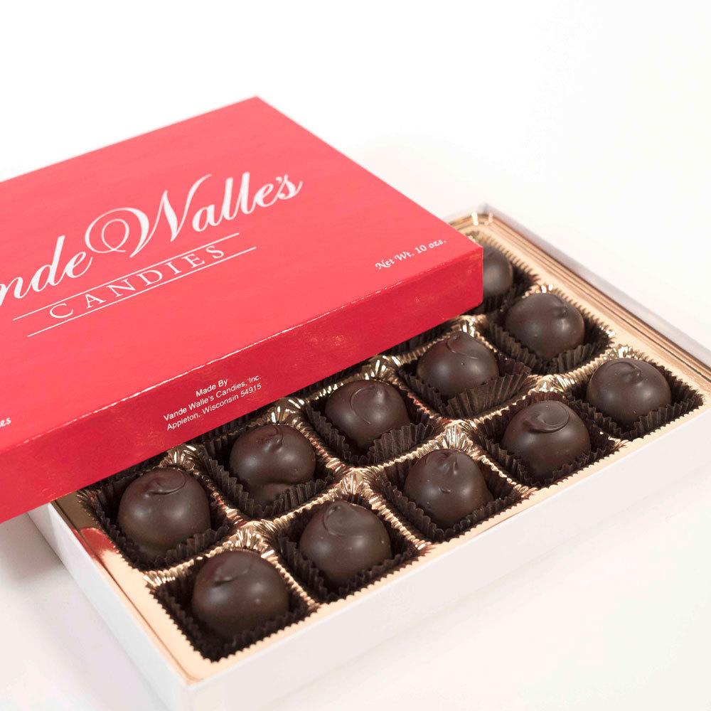 Dark Chocolate Cordial Cherries - 10 oz. Box (15 pc)