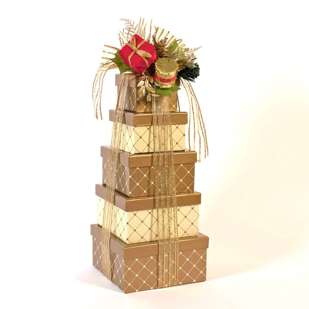 Gold Elegance Gift Tower