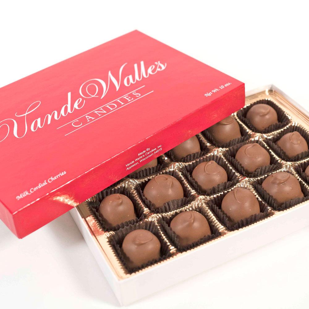 Milk Chocolate Cordial Cherries - 10 oz. Box (15 pc)