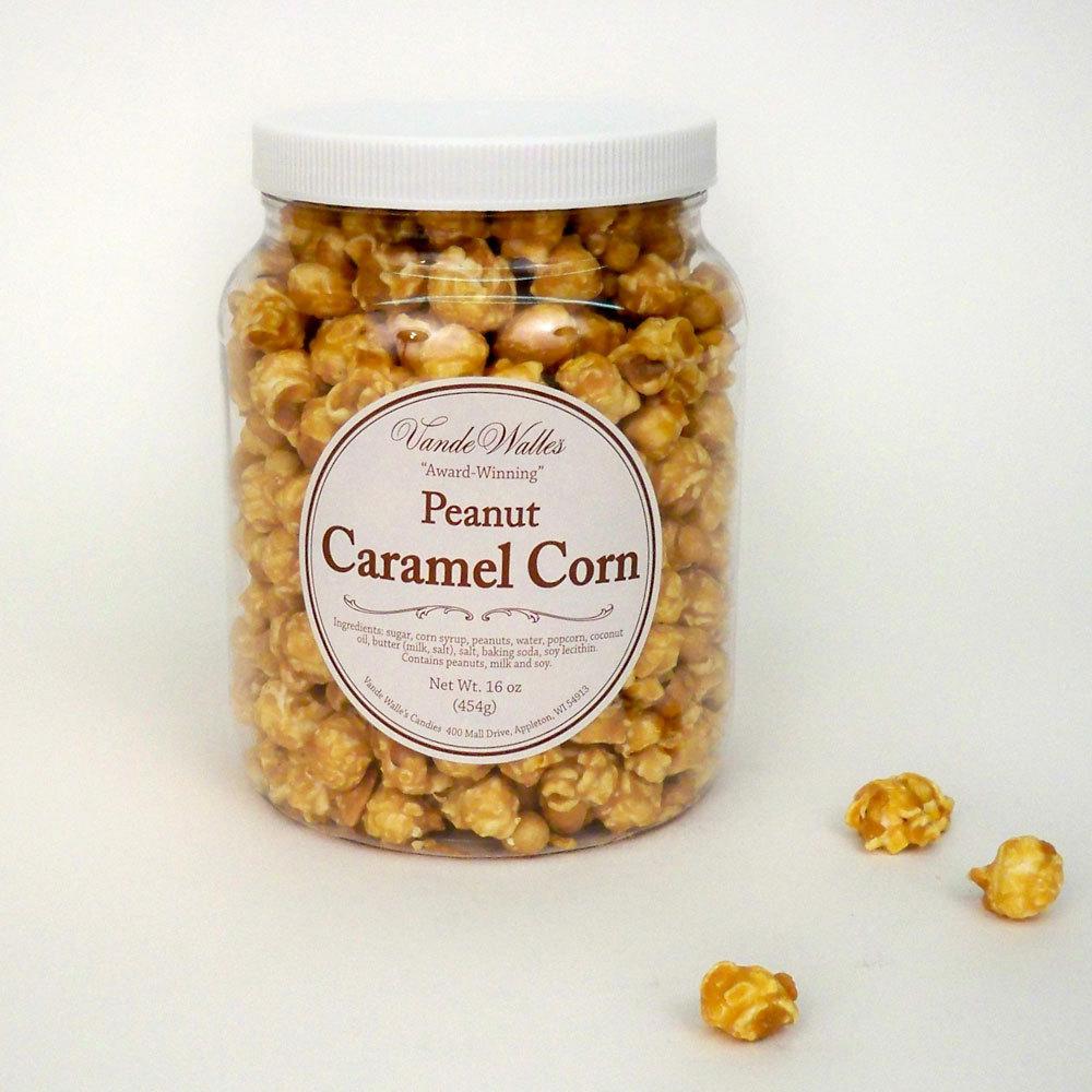 Gourmet Caramel Corn with Peanuts, Award-Winning - 16 oz. Jar
