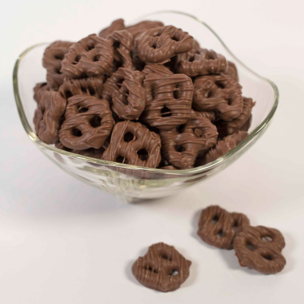 Dark Chocolate Bowtie Pretzels - 8 oz. Bag