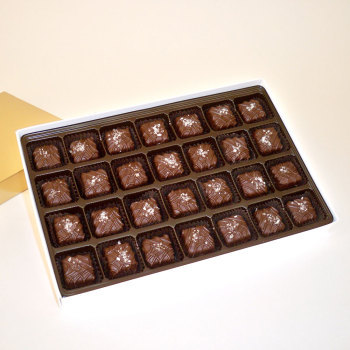 Sea Salt Caramels, Dark Chocolate - 18 oz Box (28 pcs)