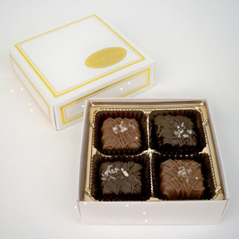 Sea Salt Caramels, Milk & Dark - 2 oz. Box (4 pc)