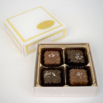 Sea Salt Caramels, Milk & Dark - 2 oz. Box (4 pc)