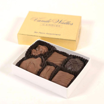Assorted Milk  & Dark Chocolates - 6 Pc. Box