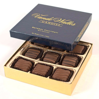 Assorted Meltaways, Milk Chocolate - 5.5 oz. Box (9 pc)
