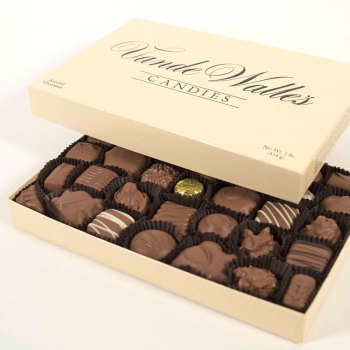 Assorted Milk & Dark Chocolates - 2 lb. Box