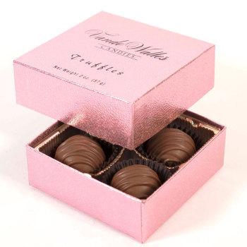 Chocolate Truffles,  Milk Chocolate - 4 Piece Box