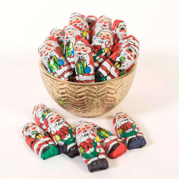 Foil Wrapped Milk Chocolate Santas - 8 oz. Bag
