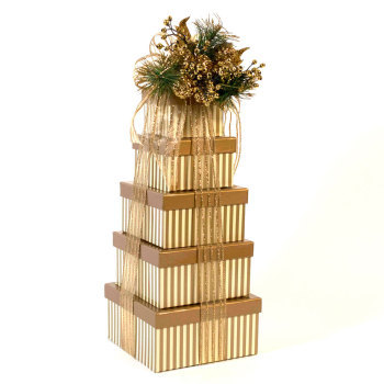 Season's Greetings Tower - Gift Tower