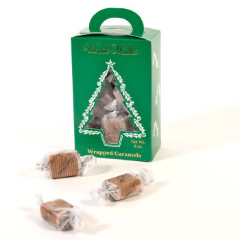 Wrapped Caramels - 8 oz. Green Tree Box