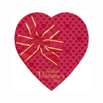 Red Foil Heart with Red Ribbon Bow - 1 lb.