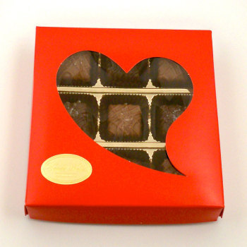 Whimsical Heart Design,  Sea Salt Caramels - Milk and Dark - 5 oz. (9 pc.)