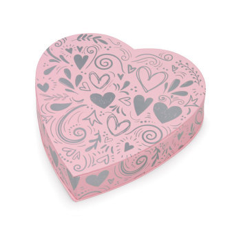 Princess Pink Heart,  Assorted Milk & Dark Chocolates - 8 oz.