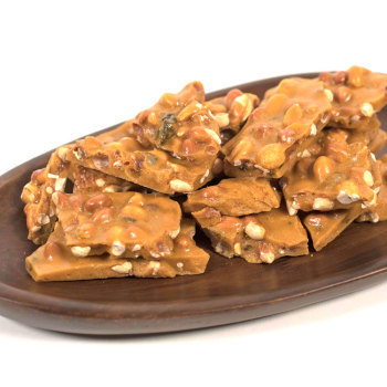 Hot Jalapeno Beer Peanut Brittle - 8 oz. Bag