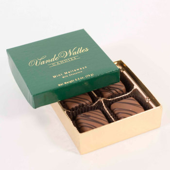 Mint Meltaways, Milk Chocolate - 2.5 oz. Box (4 pc)