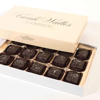 Sea Salt Caramels, Dark Chocolate - 9 oz. Box (15 pc)