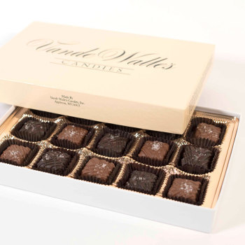 Sea Salt Caramels, Milk & Dark - 9 oz. Box (15 pc)